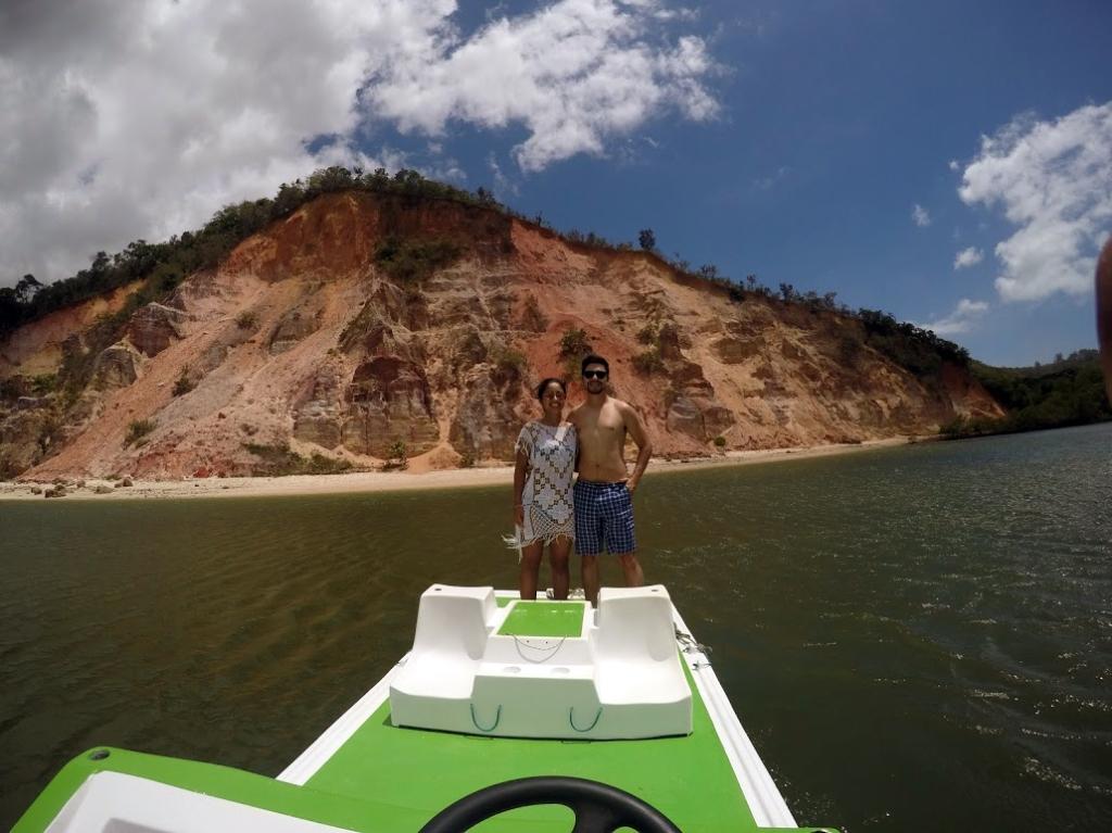Nosso passeio de barco na Praia do Gunga
