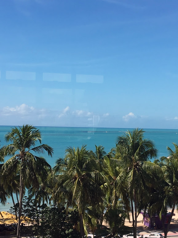 A vista do café da manhã do hotel