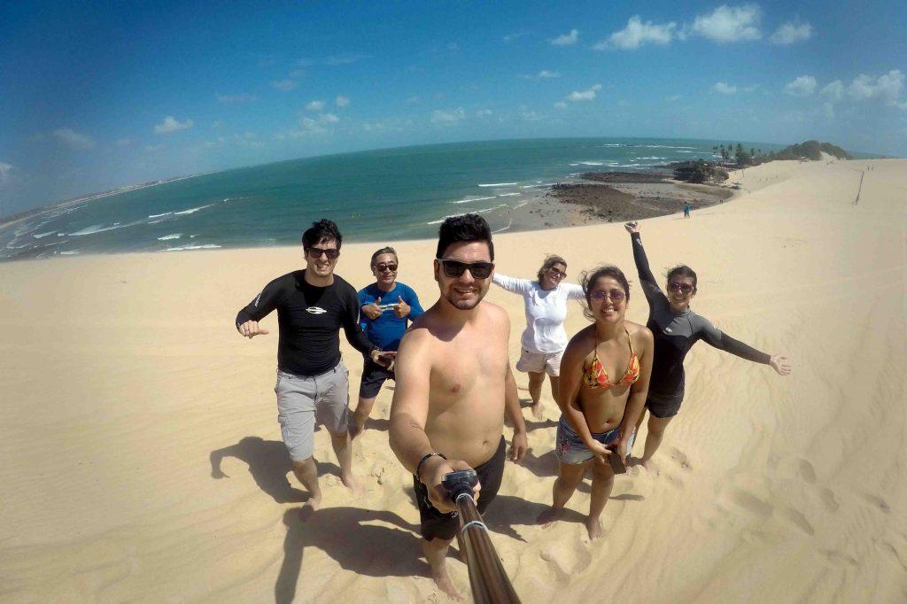 Uma das paradas nas dunas